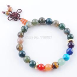Naturel Indien agates Pierre Rond 8mm Perles Bracelets 7 Chakra Guérison Mala Méditation Prière Yoga Femmes Bijoux IK3328 ? partir de fabricateur