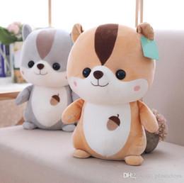 großhandel plüsch hai Rabatt 2018 neue Pop 25 cm Weiche Cartoon Eichhörnchen Plüsch Puppe Tier Eichhörnchen Spielzeug Kinder Spielen Puppe Geschenk