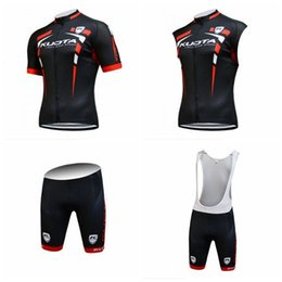 Wholesale Kuota Clothing - KUOTA team Cycling Short Sleeves jersey (bib) shorts Sleeveless Vest sets Summer Mtb Bike Clothing Sportswear for men's F1613