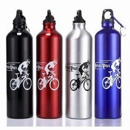 Wholesale Bikes Direct - Wholesale- 4 colors 500ml Aluminum Alloy Sports Water Bottles Cycling Camping Bicycle bike kettle free shipping
