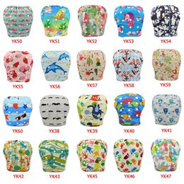Wholesale buckle board - 50 pcs lot Swimwear for Boys&Girls 2018 Reusable Board Short Trunks Baby Swim Diaper Cloth Diapers Baby Nappies Unisex Training Pant