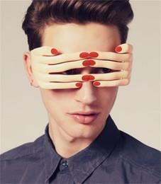 Dedos gafas online-Gafas divertidas creativas en forma de dedo Espectáculos de bola de mascarada Prop Decoración de Halloween Suministros Venta caliente 7 5sf C