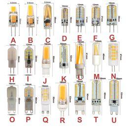 галогенные лампы Скидка 10PCS G4 G9 LED Bulb AC DC12V 110V 220V Dimmable Warm White Cool White Led Corn Lamp 3W 5W 6W 7W 9W Replace for Halogen Bulb