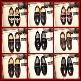 18ss Luxus italienischen Retro Designer braun Brogue echtes Leder Slip-on  Mens formale Kleid Party Arbeit Büro Hochzeit Schuhe Größe 38-45 günstig  braune ... c25080d134
