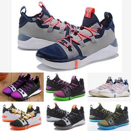 brand new 4836c cb762 2018 Kobe A. D. Mamba Day EP Sail Mehrfarben Mens Basketball Schuhe  AV3556-100 Kobe Bryant Sport Turnschuhe Athletic Basket Ball Größe 7-12
