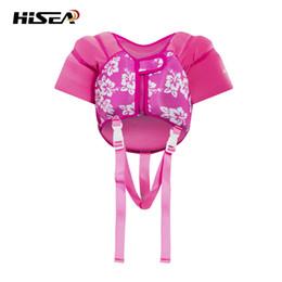 2019 rosa bambino galleggiante HISEA Pro Life Vest per bambini 2-6 Pink Blue Neoprene Wading kayak per piscina galleggiante piscina per bambini Baby Vest giubbotto di salvataggio T rosa bambino galleggiante economici