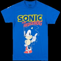 6ab15b9ea SEGA SONIC THE HEDGEHOG T-SHIRT BLUE MENS VIDEO GAME TEE Funny free  shipping Unisex Casual gift
