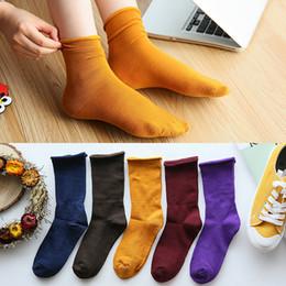75a5cf5c18537 Dreamlikelin Japanese High School Girls High Socks Loose Solid Colors  Cotton Knitted Long Women Loose Socks 20 Color