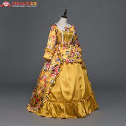2019 robe gothique marie antoinette Nouvelle robe de vacances Marie Antoinette Robes d'époque gothique Robe de bal Renaissance Vintage inspirée de costumes élégants promotion robe gothique marie antoinette