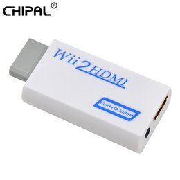 Wholesale Video Display Converter - CHIPAL Full HD 720P 1080P Wii2HDMI Adapter For Wii to for HDMI Converter 3.5mm Audio Video Output HDTV Monitor Display