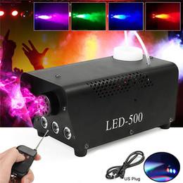 Fogger maschinenstadium online-Hochwertige Funksteuerung LED 500W Nebelmaschine / RGB Farbe LED Nebelmaschine / Professionelle LED Nebelstufe 500W Rauchabscheider