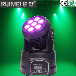 Wholesale full moving - Factory arrive Dj lighting full color rgbw led moving head 7x12W led DMX Wash dj stage light effect disco party professional