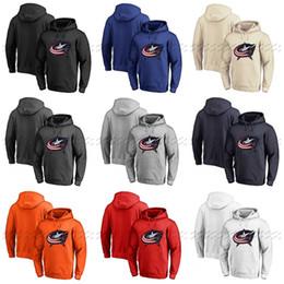2019 números de sudaderas Custom Columbus Blue Jackets Hoodie Jerseys Sudadera con capucha Cualquier número de nombre Blank Stitched Hockey Sudadera con capucha números de sudaderas baratos