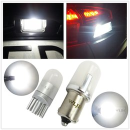 Wholesale back up light bulb - WLJH Auto Car T10 W5W LED P21W 1156 Ba15s LED Bulb 3030SMD Number Lamp License Plate Reverse Back Up Light For Ford Focus