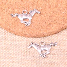 alice wonderland platten Rabatt 75 stücke Antique silver running pferd steed Charms Anhänger Fit Armbänder Halskette DIY Metall Schmuck Machen 12 * 28mm