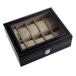 Wholesale Storage Collection - YCYS-TIMETOP Watch Display Case Jewelry Collection Storage Organizer PU Box 10 Grid