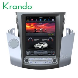 "toyota radio android Australia - Krando Android 7.1 10.4"" Vertical big screen car DVD audio radio gps navigation for Toyota RAV4 2006-2012 entertainment dvd player"