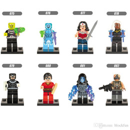 Wholesale Justice League Wholesale - 120pcs Mix Lot Super Heroes Minifig Abin Sur Justice League Green Lantern Corps Superman Bat Figure X075-082 Mini Building Blocks Figures