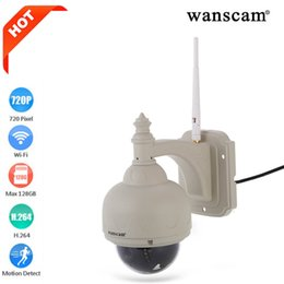 Wholesale Dome Ptz - Wanscam HW0038 HD H.264 Onvif 1.0 Megapixe Waterproof IP Camera Pan Tilt Dome Outdoor Network Wireless PTZ IP Camera WIFI CCTV