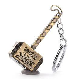 2019 catene di modelli catena gioielli film Thor Hammer Keychain auto Gioielli film Mjolnir Modello metallo Portachiavi Per gli appassionati uomini ragazzo giocattolo chaveiro souvenir sconti catene di modelli catena
