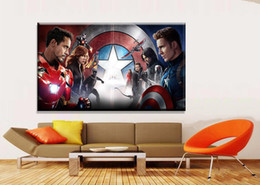 Wholesale More America - Oil Painting Printed On Canvas Colorful Wall Pictures For Living Room Home Decor Wall Art Picture captain america