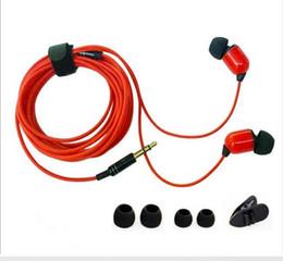 Fio preto branco vermelho on-line-3 m 10FT Fone De Ouvido Com Fio In-ear Fones De Ouvido Fone De Ouvido Fone De Ouvido Fone De Ouvido Universal Com Microfone Vermelho Preto Branco 3.5 MM Plugue
