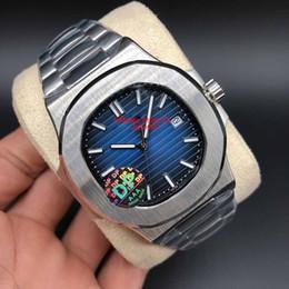95ab9aed44f relógio homens Desconto Top Quality Dial Azul Ásia 2813 Movimento Sapphire  Relógios De Pulso 40mm Nautilus