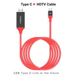 2019 vga cavi di colore Adattatore cavo 2M tipo C a HDMI 1080P HDTV per Samsung Galaxy S8 S8P S9 S9P con scatola al minuto