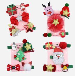 Handgemachte prinzessin haarclips online-Neue Weihnachten Kinder Haarspange Haarnadeln Zubehör Niedlichen Cartoon Weihnachtsmann Krone Mädchen Prinzessin Handgemachte Haarspangen Kopfschmuck