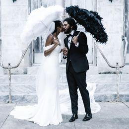 Wholesale Close Image - Ivory strapless neckline Wedding Dresses close-to-the-body mermaid silhouette Bridal elegance grace gown 2018 Vestido De Noiva