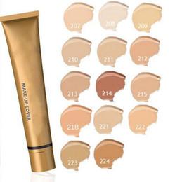 Wholesale wholesale base - HOT Concealer Foundation Make Up Cover 14 colors Primer Concealer Base Professional Face De Makeup Contour Palette Makeup Base