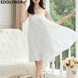 Nightgowns Women Sleep Lounge Lace Sleepwear Vintage Nightdress Indoor Clothing  Nightwear Sexy Nightgown Female Home Dress  H402 7d6dd850b