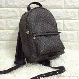 Wholesale Black Floral Lace - Fashion Backpack Men Women Red Black Leather Bags Brand Designer Back Pack Bag Backpacks Ladies Sale