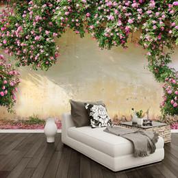 2018 romantische tapete fr schlafzimmer benutzerdefinierte wandbild tapete 3d rose pastorale wandmalerei wohnzimmer schlafzimmer thema hotel