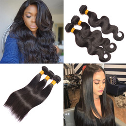Wholesale Hair Extension Machine For Sale - Peruvian Virgin Hair Body Wave Hair for Sale 8A Peruvian Straight Remy Human Hair Extensions 3 4 Bundles Natural Color Dyeable 8-26 inch