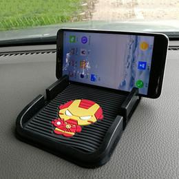 Carro Anti-Slip Tapete Dos Desenhos Animados Cartão Duplo Posição do Telefone Móvel Não-slip Pad Auto Dashboard Decoração Segurar GPS Celular 20X11 CM de