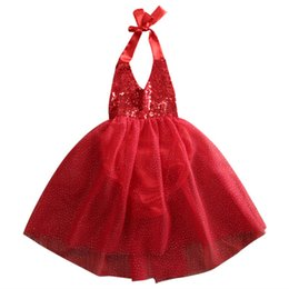 Wholesale 2t Girl Costume - 2017 Summer New Baby Girls Dress Newborn Toddler Girls Sequins Dresses Clothing Tulle Princess Party Costume
