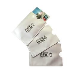 Wholesale Protection Wallet - Anti Rfid Blocking Reader Lock Bank Card Holder ID Bank Card Case Rfid Protection Metal Credit Card Holder Aluminium