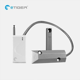 Etiger alarm system online-Etiger long distance Drahtlose Metall Rolltor / fenster Magnetkontakt Sensor Detektor Home Alarm System 433 mhz ES-D4F
