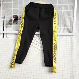Taille élastique enfants en Ligne-Pantalon de mode pour enfants design style de mode taille élastique lettre pantalon vêtements pour enfants bonne qualité livraison gratuite