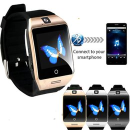 Wholesale Connection Watch - Q18 smart watches for android phones Bluetooth Smartwatch with Camera Original q18 Support Tf sim Card Slot Bluetooth NFC Connection