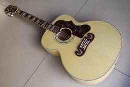 2019 voando guitarra branca Atacado Gibsonsj 200 Guitarra Acústica Feita De Lado Maple Abeto Sólida Top lado Maple e de volta em 120218 natural