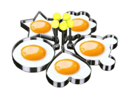 Wholesale Metal Shaping Hand Tools - Fheal 5pcs  Set Stainless Steel Cute Shaped Fried Egg Mold Pancake Rings Mold Kitchen Tool Cooking Gadgets