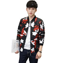 Wholesale Korean Style Jackets For Men - Camouflage Jacket Coat Men 2017 Autumn Casual Men's Windbreakers Cool Slim Fit Jacket Male Korean Style Bomber For Men