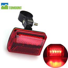 Wholesale safety leds - TOMOUNT Bicycle Tail Lights Red 5 LEDs Bike Cycling MTB Road Rear Tail Safety Lights Lamp
