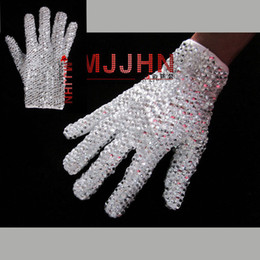 guanti singoli Sconti Dettagli su Hand Made MJ Michael Jackson Billie Jean Single Side Shinning Guanto in strass