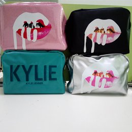 Wholesale Bags Bundle - in stock Kylie Jenner bags Cosmetics Birthday Bundle Bronze Kyliner Copper Creme Shadow Lip Kit Make up Storage Bag