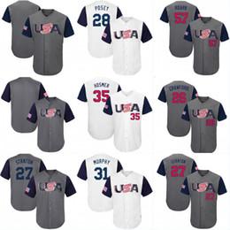 Wholesale Wbc Jersey - 2017 USA World Baseball Classic WBC Jersey 10 Adam Jones 27 Giancarlo Stanton 28 Buster Posey 32 Michael Fulmer 44 Paul Goldschmidt Jerseys