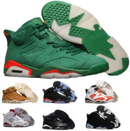 Wholesale Cats Women Shoes - New 6 Basketball Shoes Mens Women Green 6s VI Gatorade UNC NRG Black Cat Infrared Countdown Mike Suede Pack Sport Replicas Shoe Sneakers