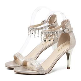 Kaufen Sie Im Großhandel Hochzeit Goldene Sandale 2019 Zum